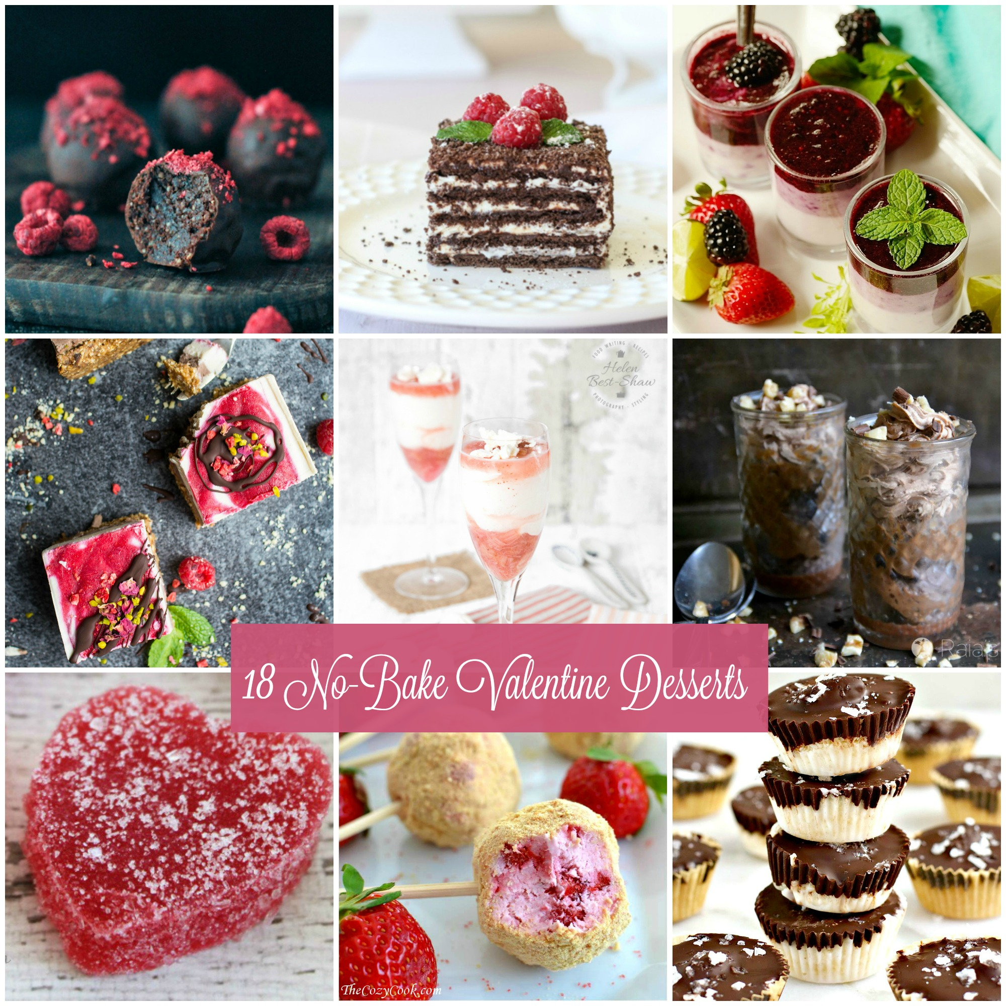 No need to turn on the oven and sweat over a difficult recipe this Valentine's Day. Show your special someone how very special they are with 18 No-Bake Valentine Desserts.  via @krazykitchenmom