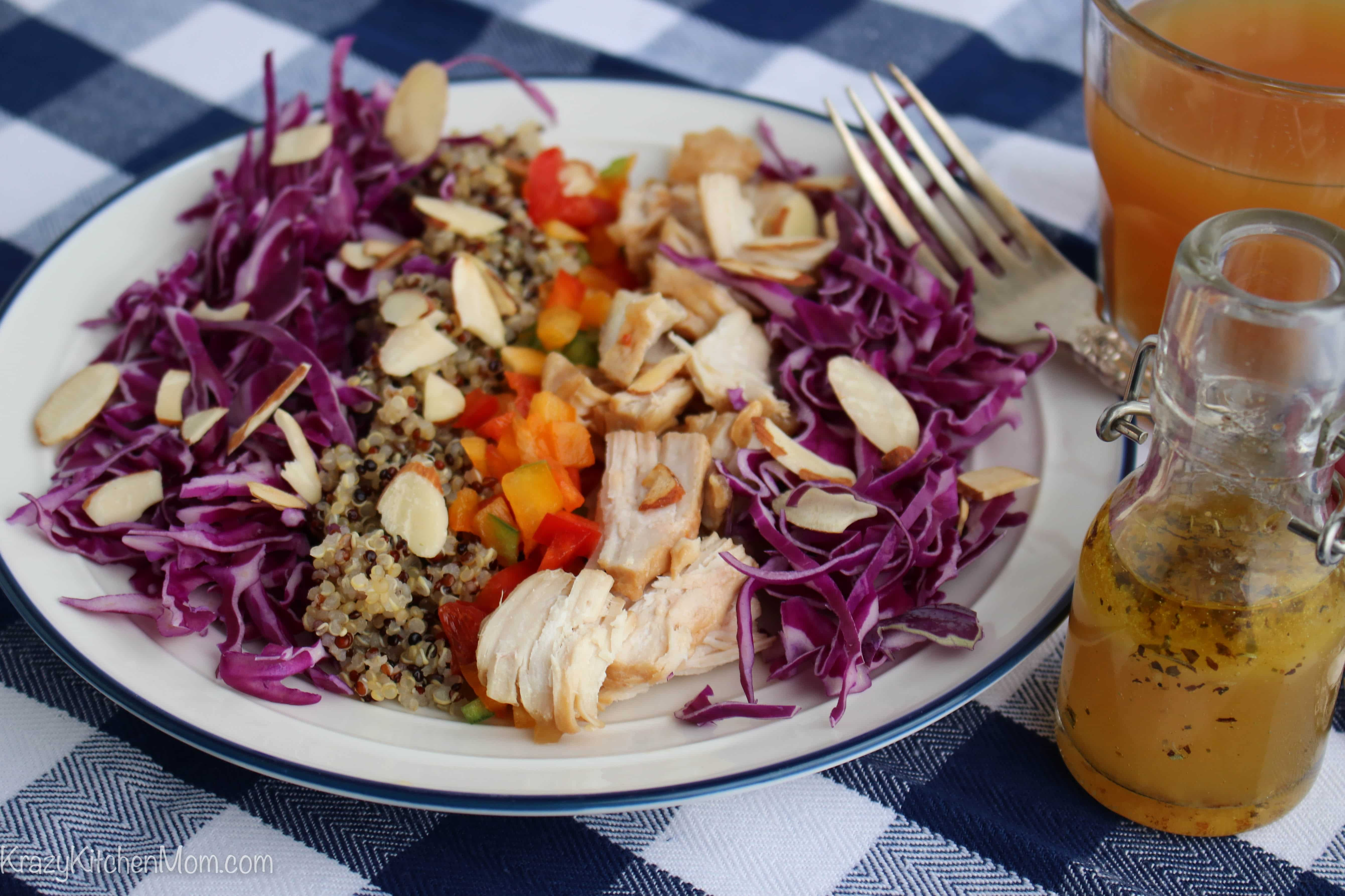 Quinoa Cabbage Chicken Salad