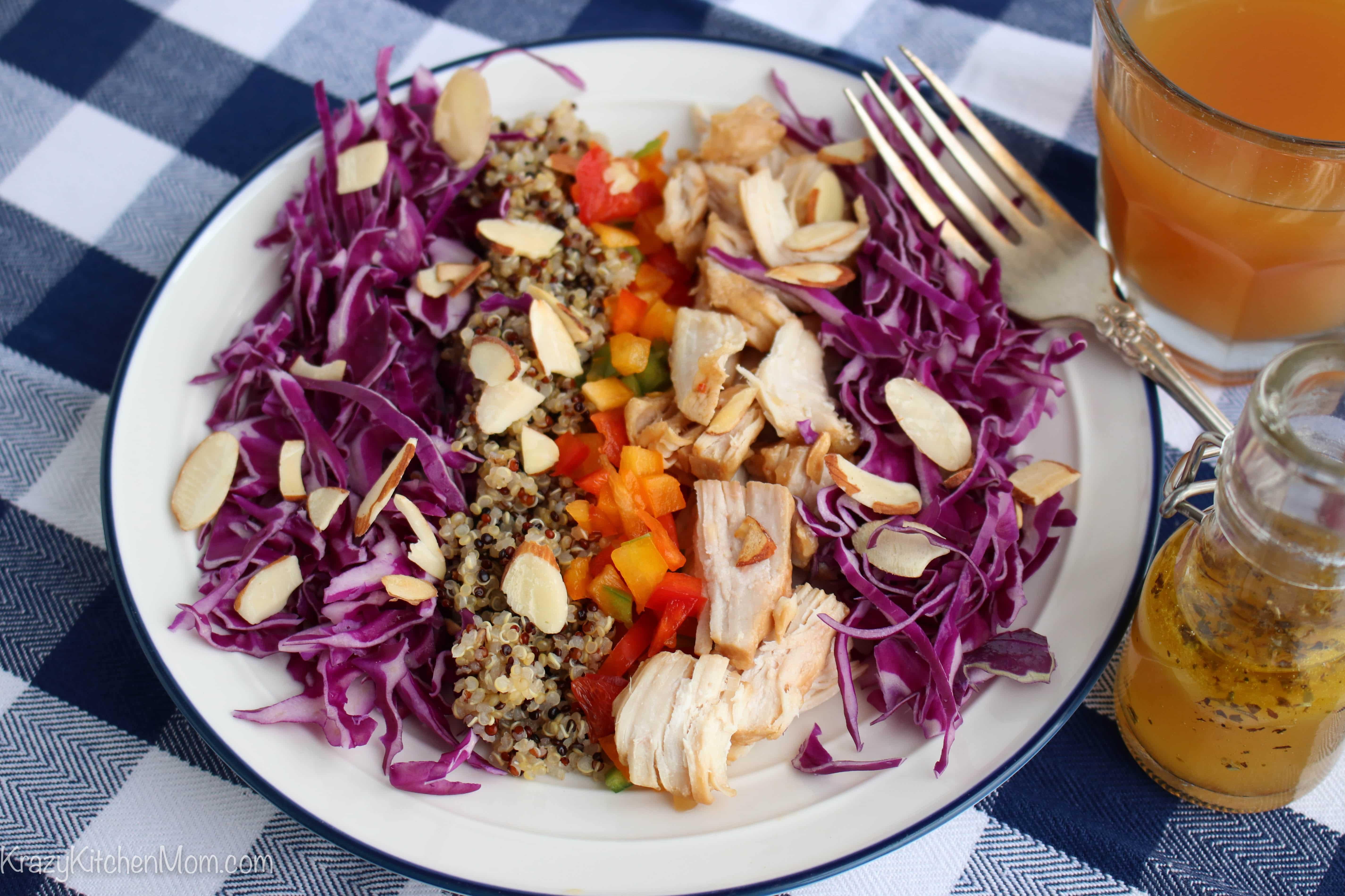 Quinoa Cabbage Chicken Salad