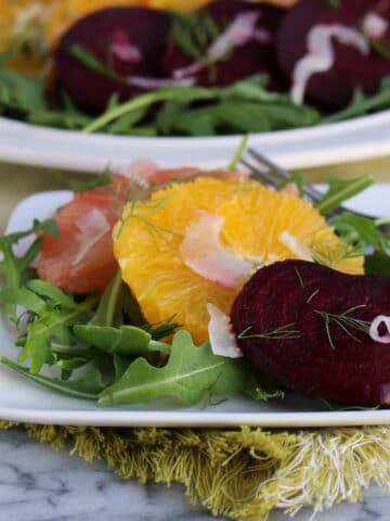 Winter Fruit Salad with Fennel and Beets