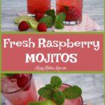 Fresh Raspberry Mojitos