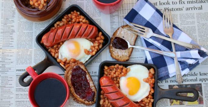 20 Minute Baked Bean Breakfast Skillet