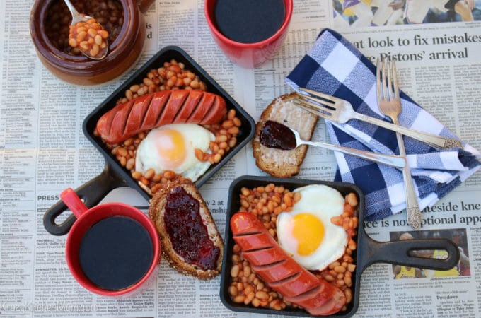 20 Minute Baked Bean Breakfast Skillet