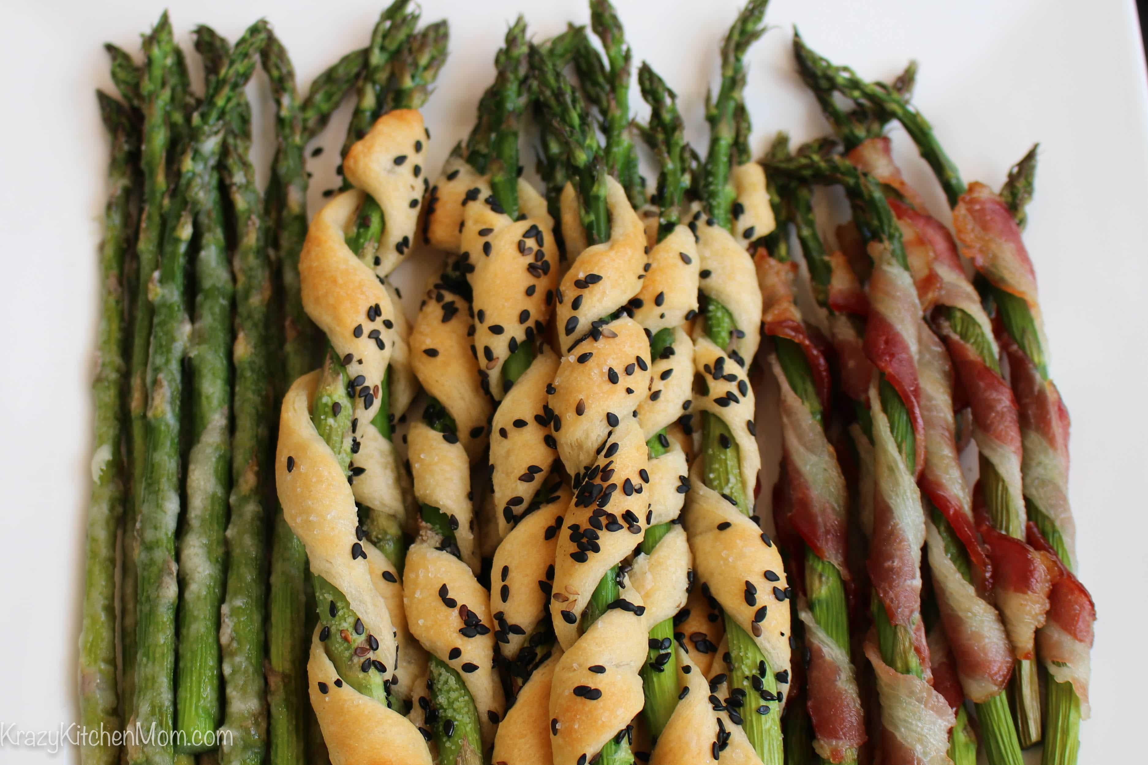 Roasted Asparagus Three Ways