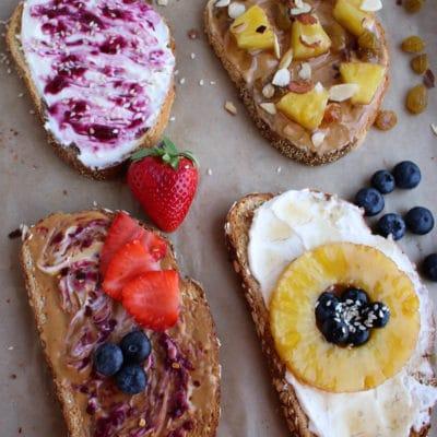 Fancy Breakfast Toast Four Ways