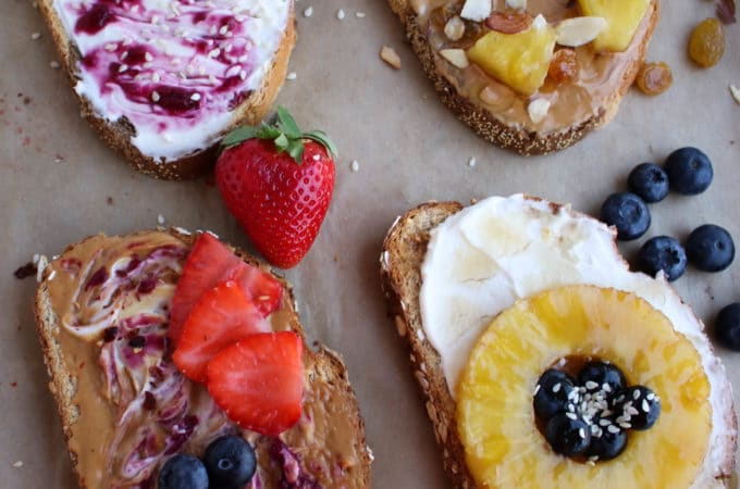 Fancy Breakfast Toast Four Ways