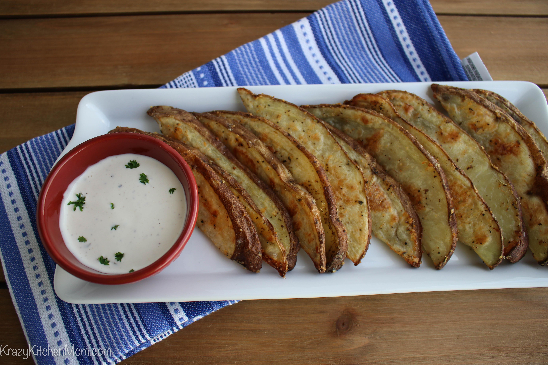 Parmesan Herb Baked Potato Wedges