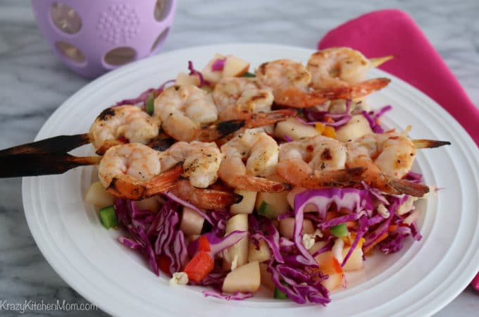 Shrimp with Spicy Apple Slaw
