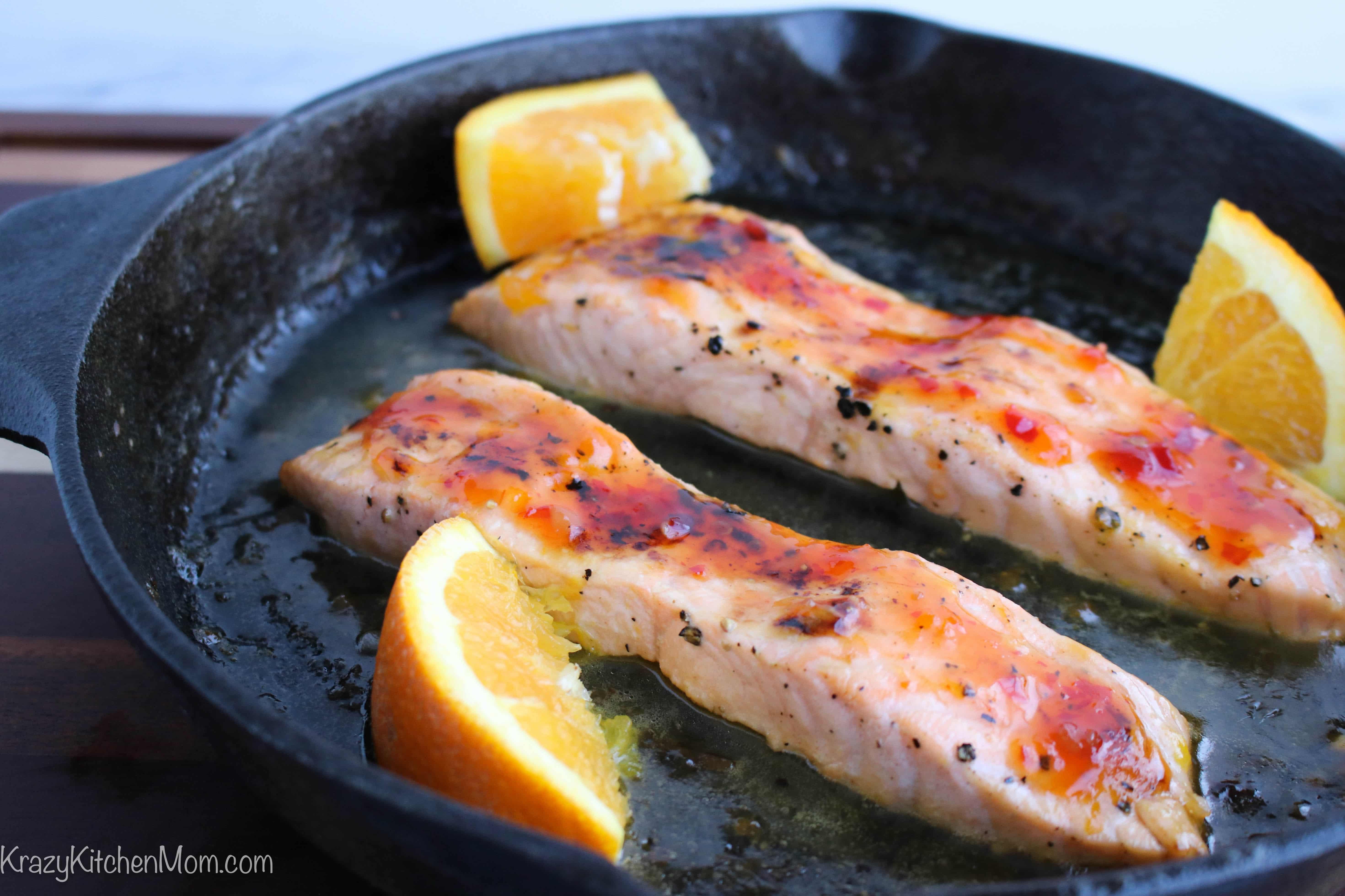 Spicy Orange Glazed Salmon