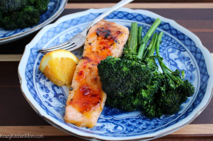 Spicy Orange Glazed Salmon