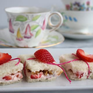 Strawberries and Cream Tea Sandwiches