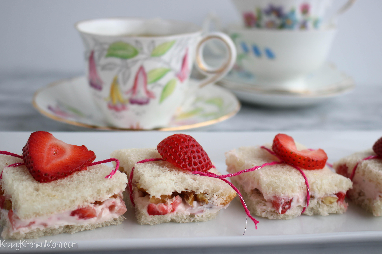 Strawberries and Cream Tea Sandwiches