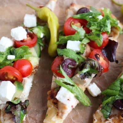 Greek Salad Flatbread Pizza