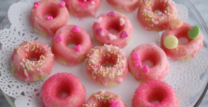 Mini Pink Lemonade Donuts