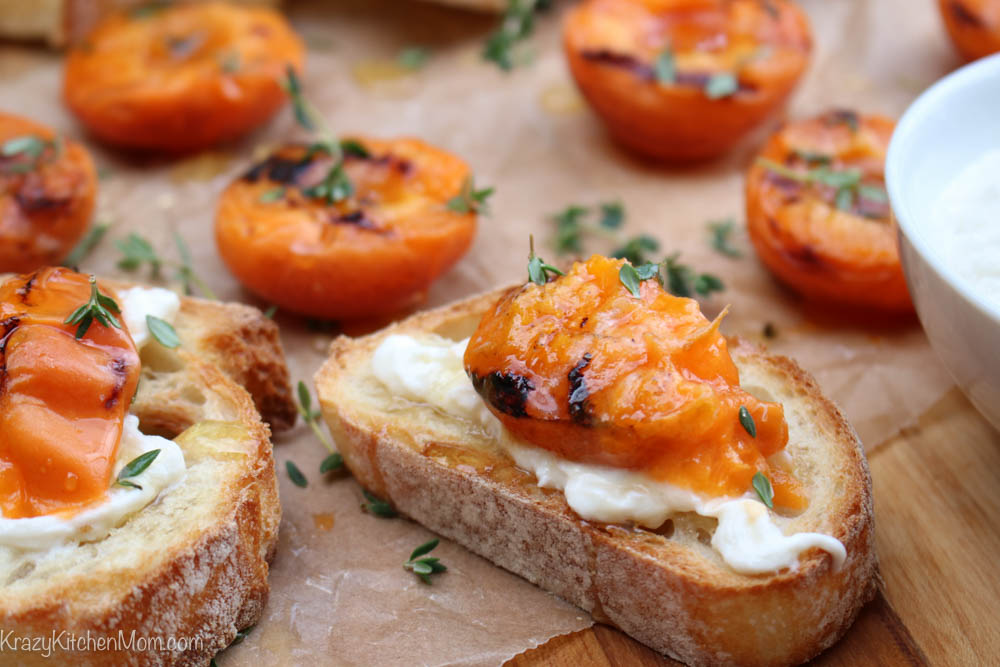 Honey and Thyme Grilled Apricots