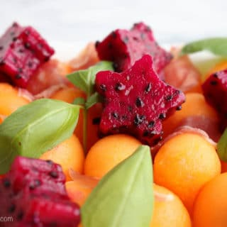 Melon and Dragon Fruit Salad