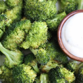 Oven Roasted Broccoli with Lemon Aioli