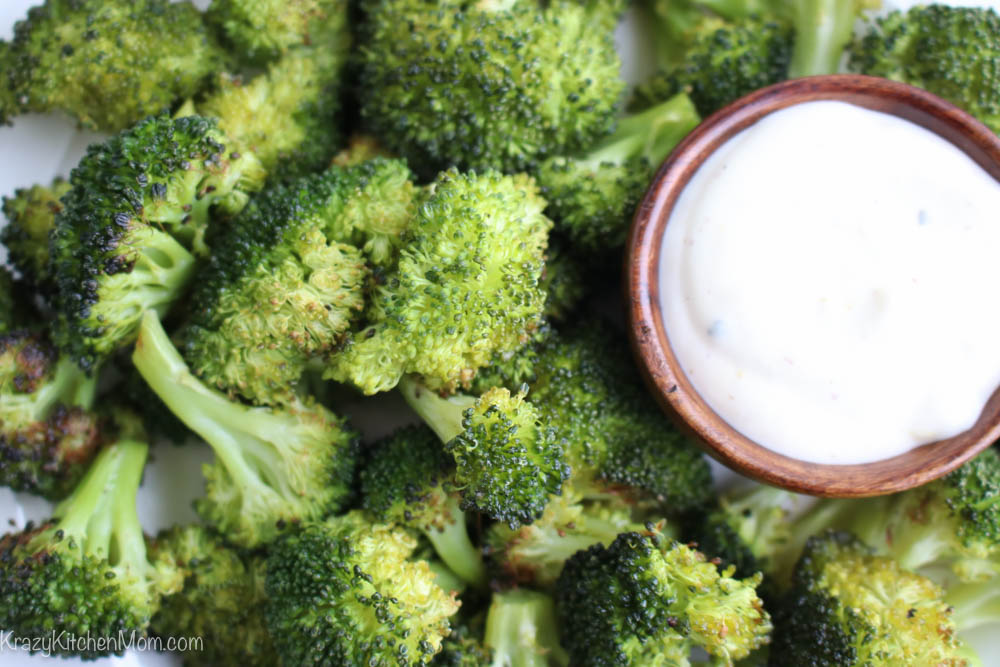 Oven Roasted Broccoli with Lemon Aioli