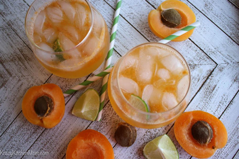 Sparkling Apricot Margaritas