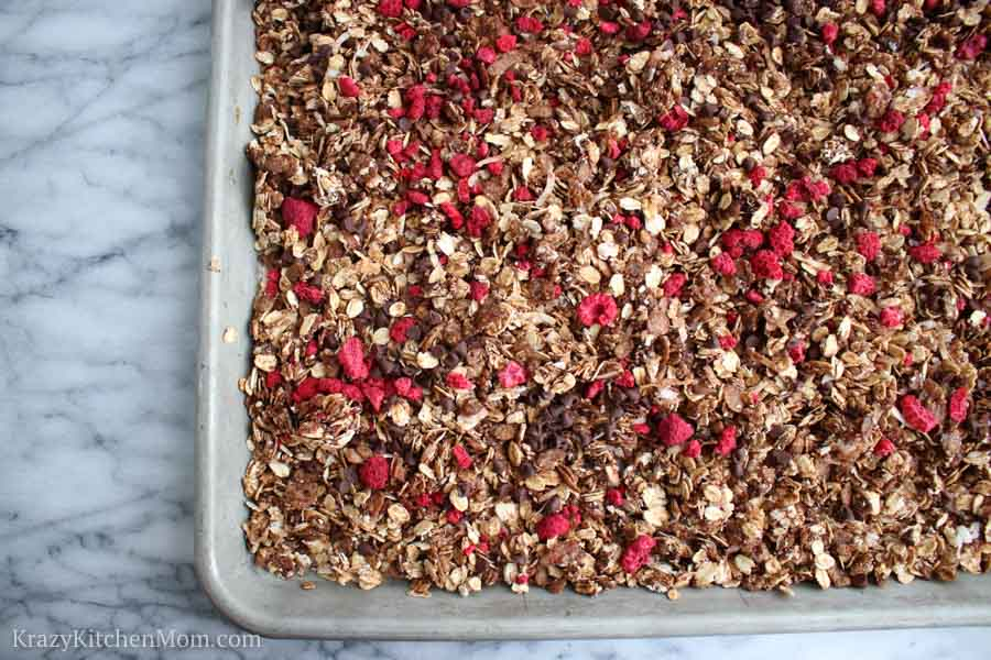 Chocolate Raspberry Granola