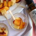 Peach and Gouda Skewers