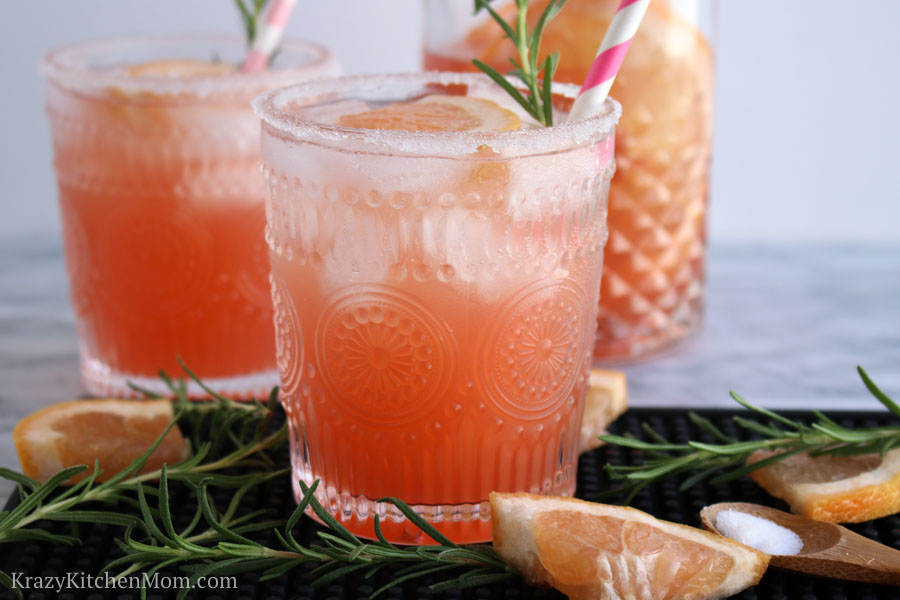 Rosemary Salty Dog Cocktail