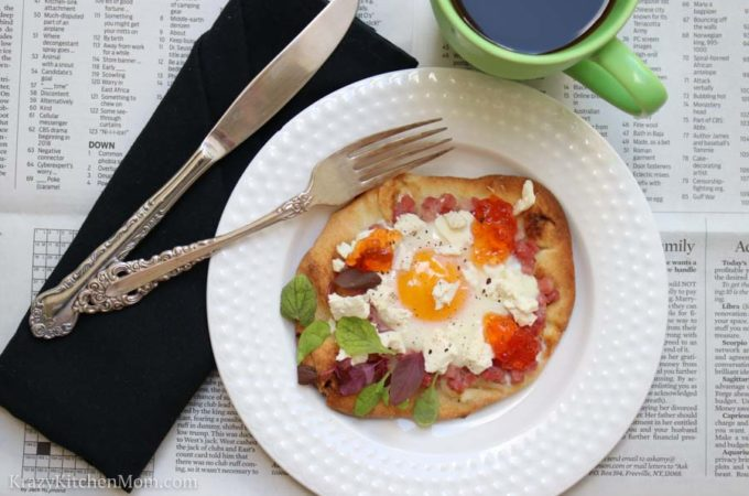 Breakfast Flatbread with Pepper Jelly