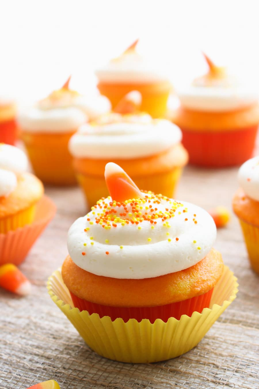 Candy corn Cupcake cameo photo