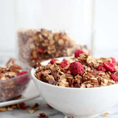 Chocolate Raspberry Granola