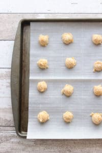 Cheddar Cheese Short Bread balls ready to bake