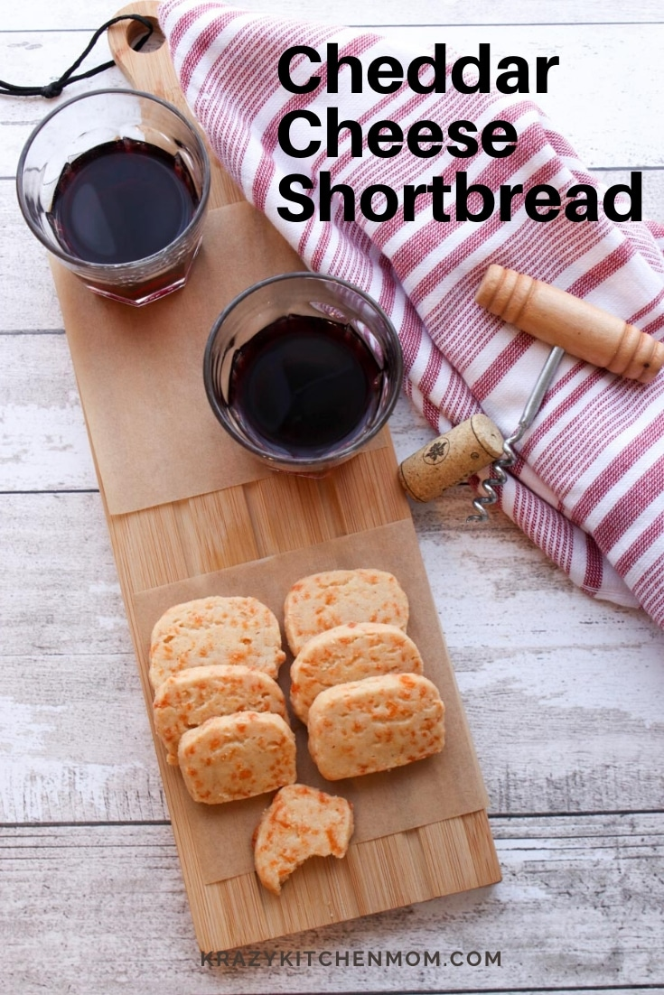 Make your ownCheddar Cheese Shortbreadcrackers with just a few ingredients in 20 minutes. These little bites are so addictive you'll want to make a double batch. via @krazykitchenmom