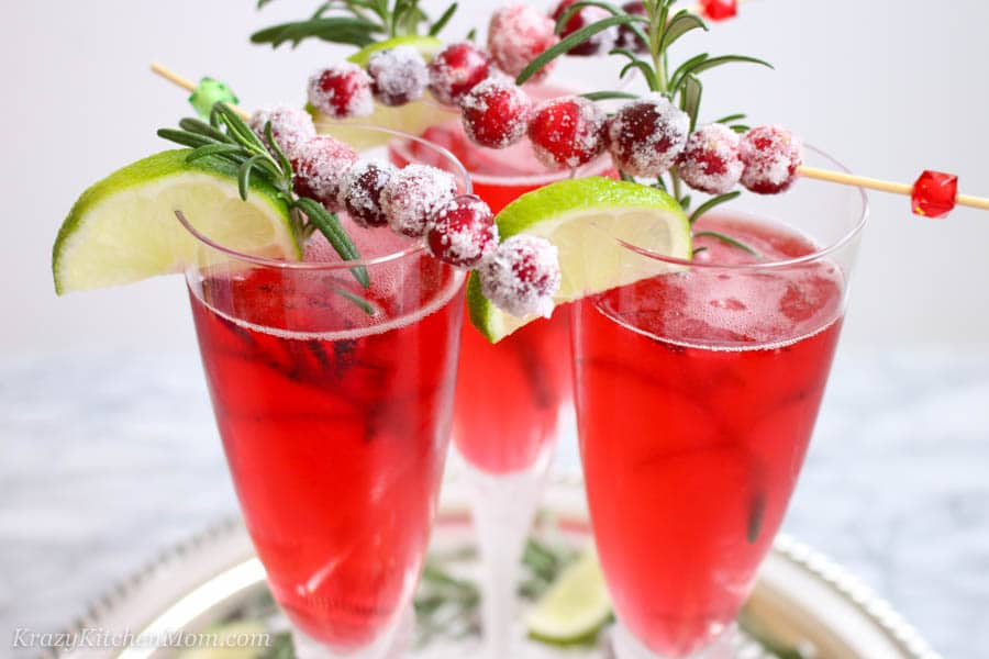 Cranberry Mimosas - The Best Cranberry Cocktail Recipes