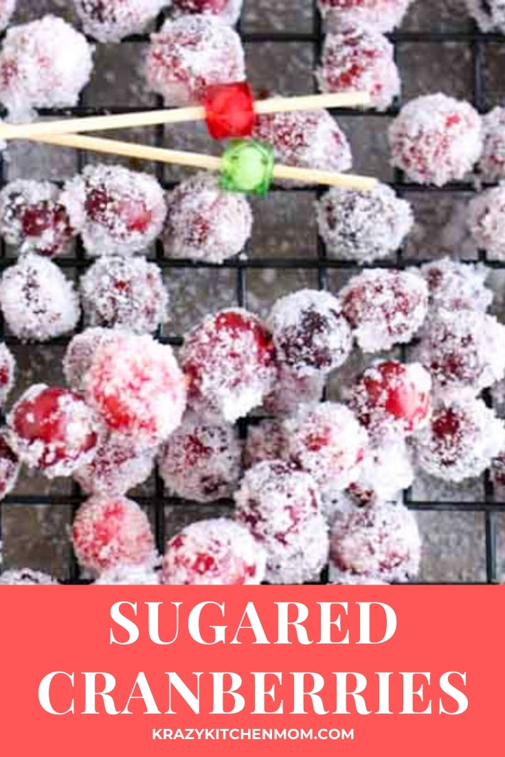 Sweet and tart sugar cranberries are the perfect little snack, a cocktail garnish and even the filling for your favorite holiday bread.  via @krazykitchenmom