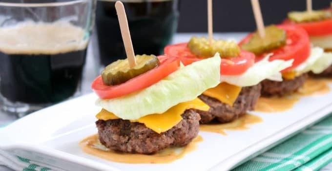 Low Carb Cheeseburger Sliders