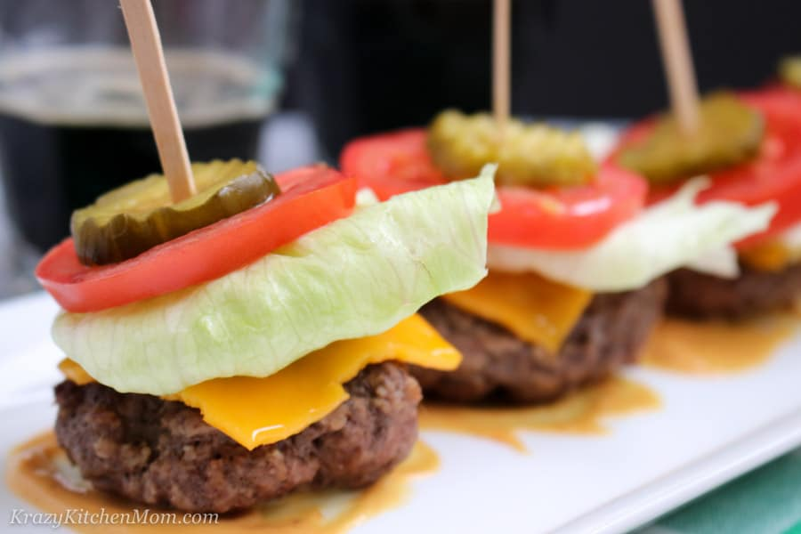 Low Carb Cheeseburger Sliders