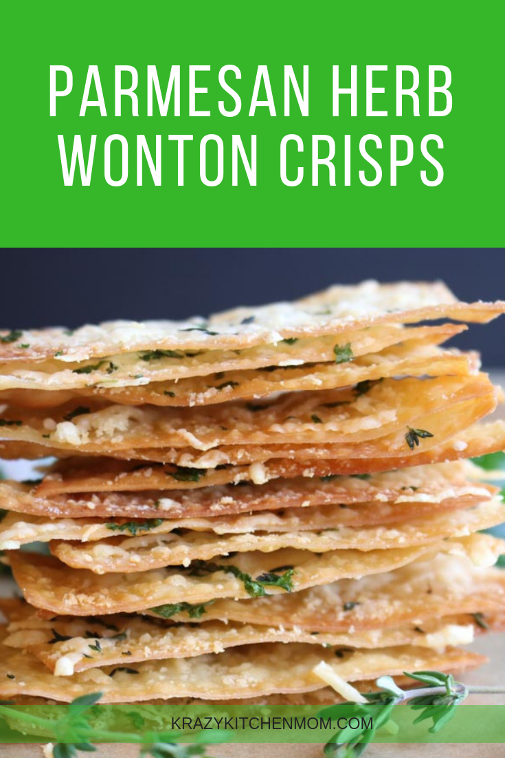 You can make crispy, cheesy, herb crackers at home with my Parmesan Herb Wonton Crisps recipe. They are made using store-bought wonton wrappers and ready in 15 minutes. via @krazykitchenmom