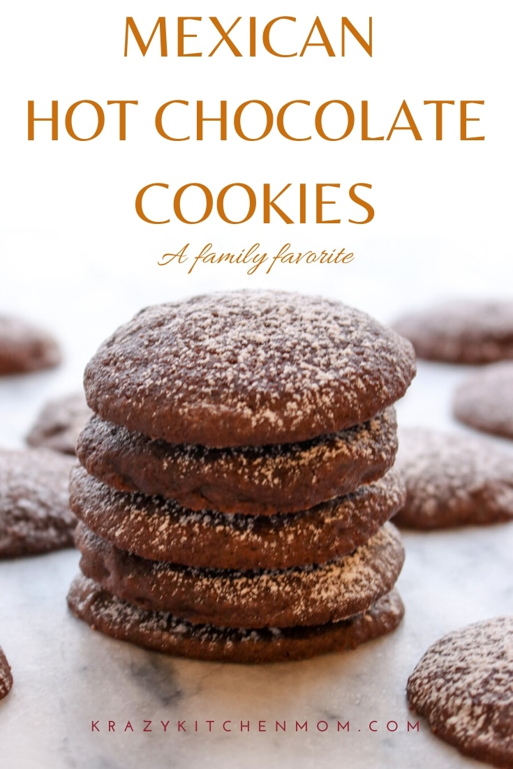 Mexican Hot Chocolate Cookies are bold chocolate cookies that have a hint of spice. They are perfect for the holidays or just for a special treat.  via @krazykitchenmom