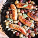 Roasted Sausage and Grapes