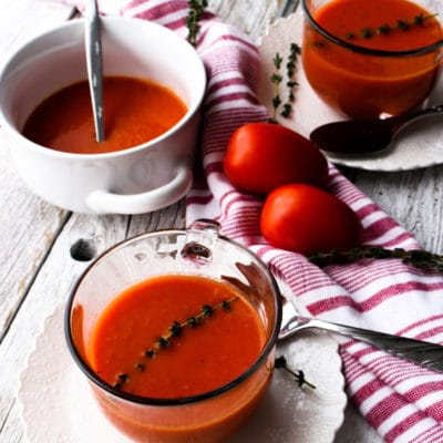 Low Carb Low Calorie Homemade Tomato Soup