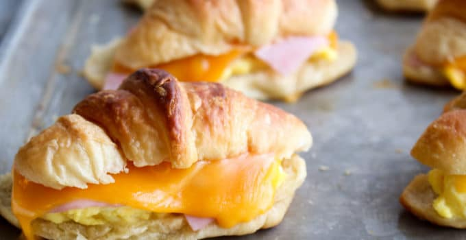 Egg Ham Cheese Croissants