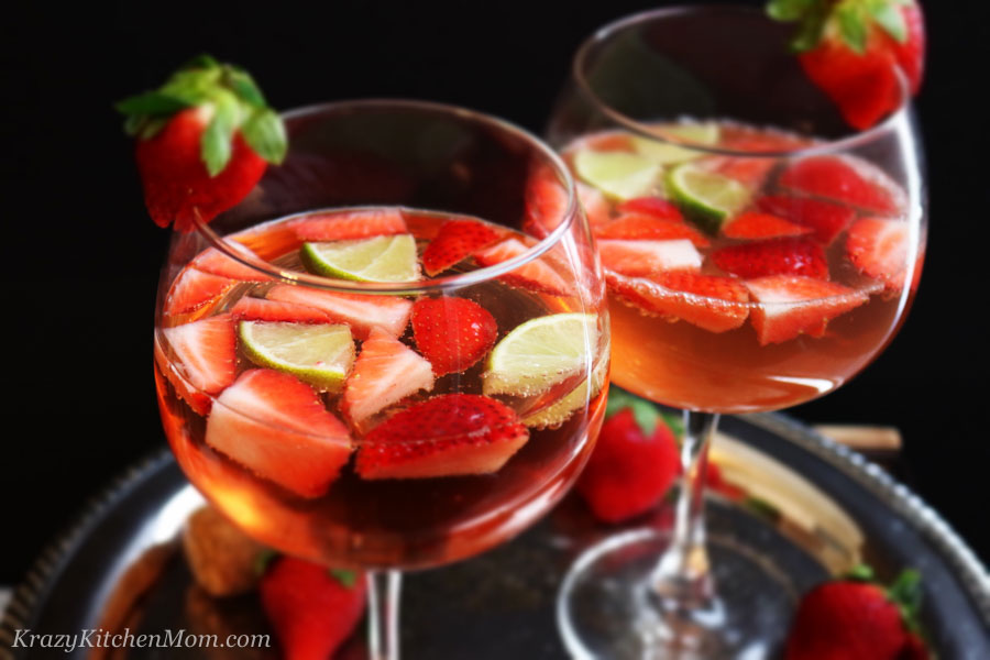 Strawberry Gin Spritzer