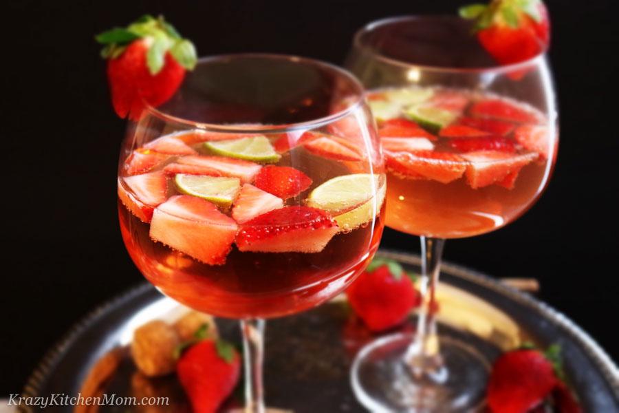 Strawberry Gin Spritzer