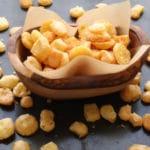 Bowl of Gouda cheese puffs