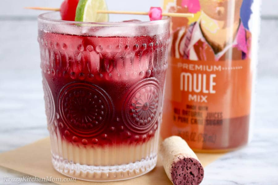 red wine mule cocktail