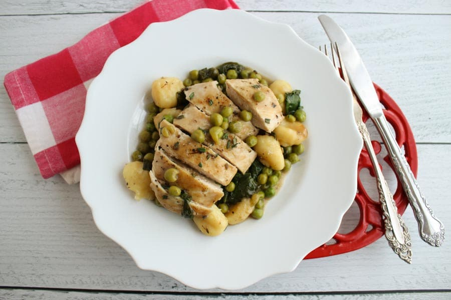 Pan Roasted Chicken with Gnocchi