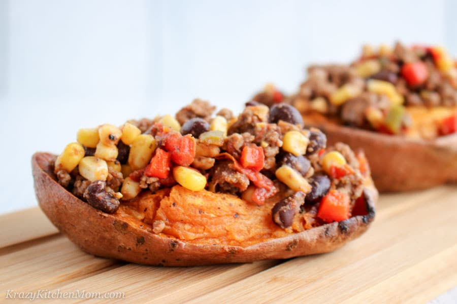 Tex Mex Stuffed Sweet Potatoes