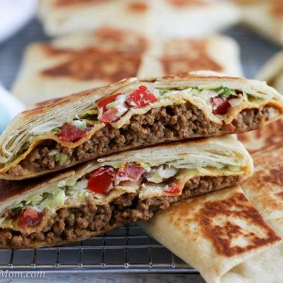 Crunchy Taco Wrap Sliced