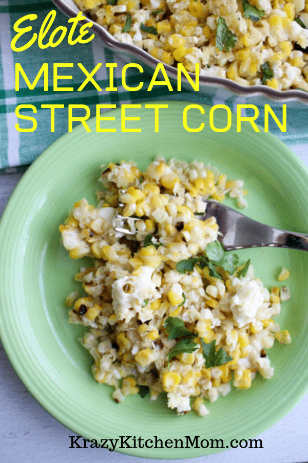 This is just like the Mexican Street Corn on the Cob, but better because the spices and cheese are cooked right in the dish. via @krazykitchenmom