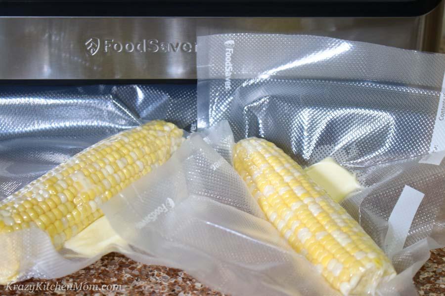 corn on the cob vacuum sealed