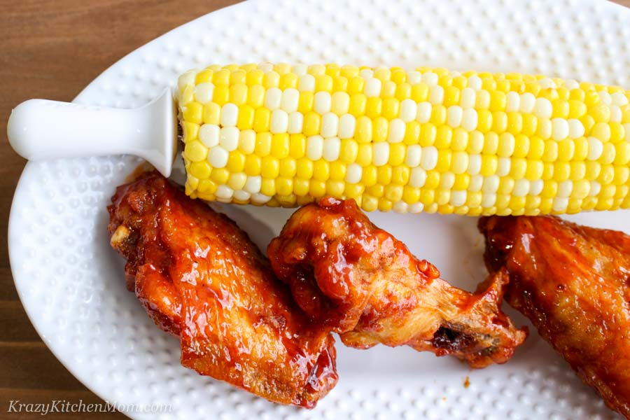 Corn on the cob with wings